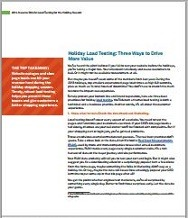 Holiday Load Testing Three Ways to Drive Value Brief