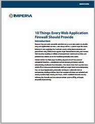 10 Features Every Web App Firewall Should Provide