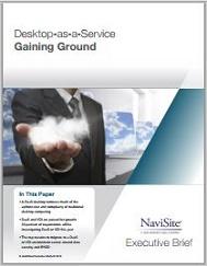 Desktop as a Service Gaining Ground Executive Brief